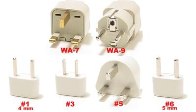 Cambodia Plug Adapters WA-7, WA-9, #1, #3, #5 , & #6
