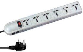 220-240 Volt Surge Protector With British Plug BB136UK (BB-13-6-UK)
